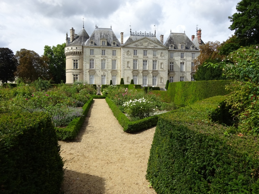 """Chateau du Lude"" with garden view"