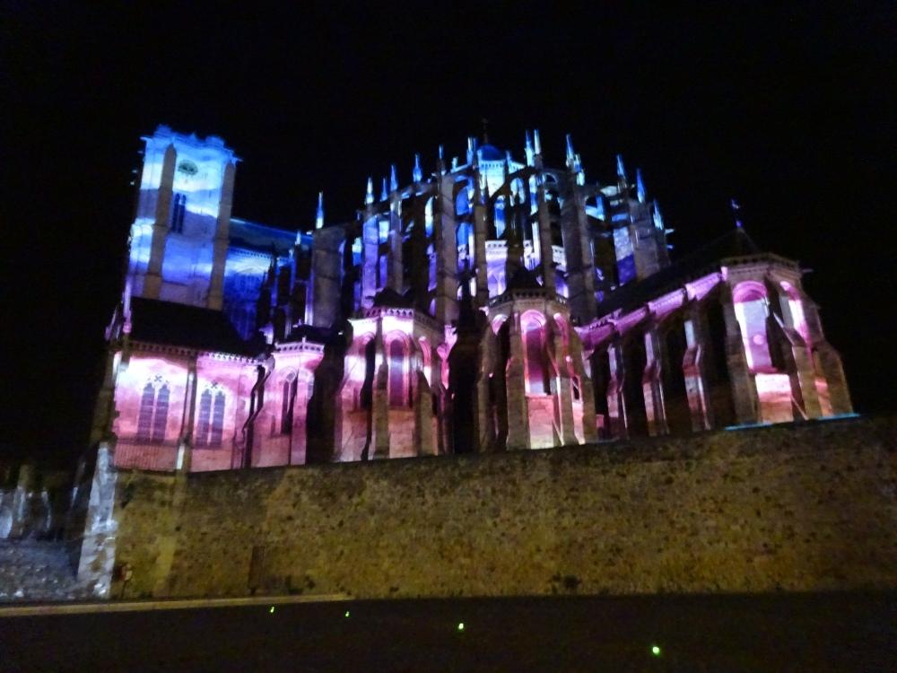 """""""Cathédrale Saint-Julien"""" La nuit des Chimeres"""