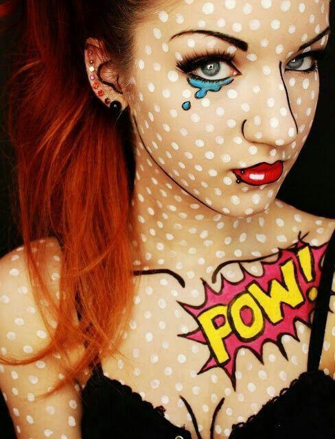 Impressive make up halloween look 1