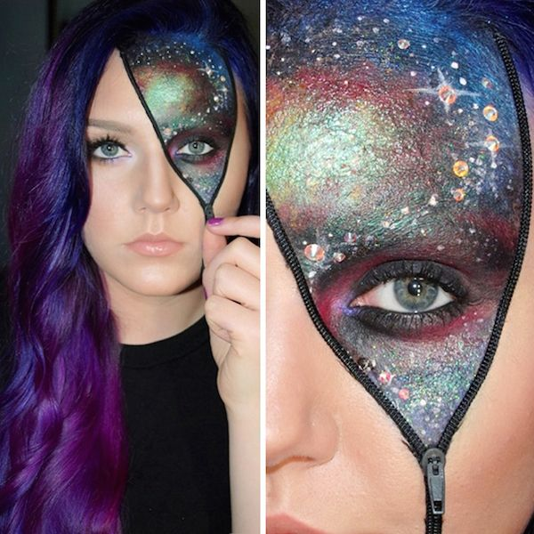 Impressive make up halloween look 2