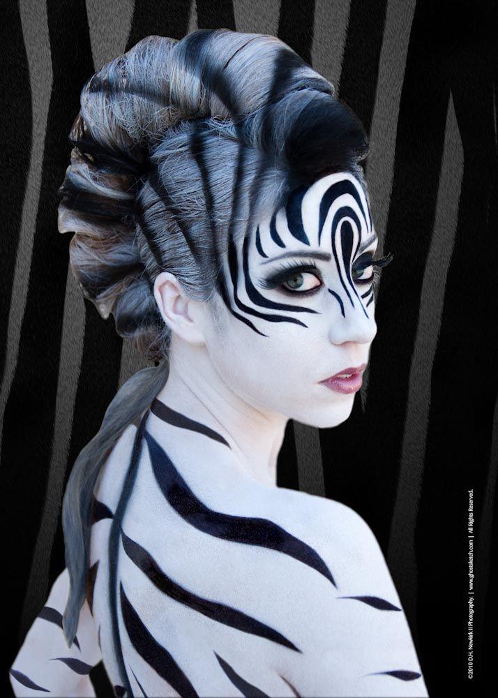 Impressive make up halloween look