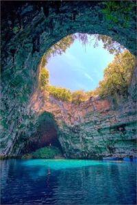 Melissani Lake, Kefalonia, Greece
